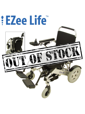 1G Folding Electric Wheelchair w/ Tall Seat Height & 12
