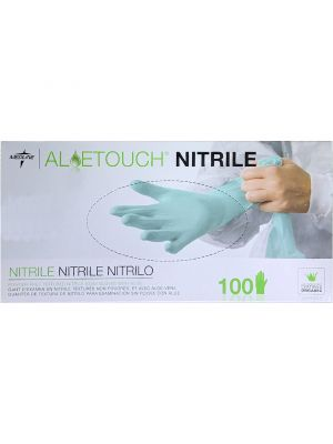 Medline Aloe Touch Nitrile Gloves - 100 per Box