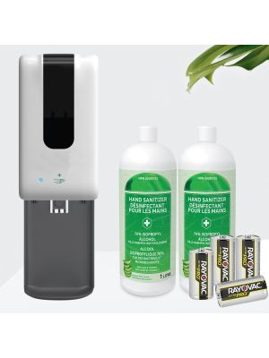 Wall Mounted Touchless Hand Sanitizer Dispenser KIT - Battery Operated