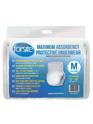 Forsite Health Maximum Absorbency Protective Underwear - Cases of 80