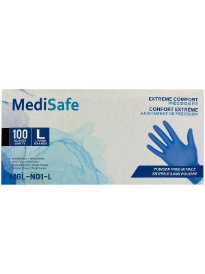 MediSafe Nitrile Exam Gloves - 100 / Box