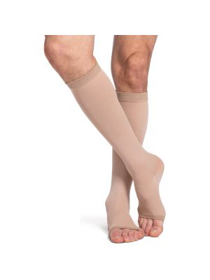 Natural Rubber Calf Length Compression Stockings
