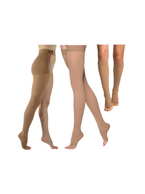 Select Comfort Compression Stockings - Unisex - Open Toe