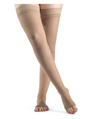 Natural Rubber Thigh High Compression Stockings