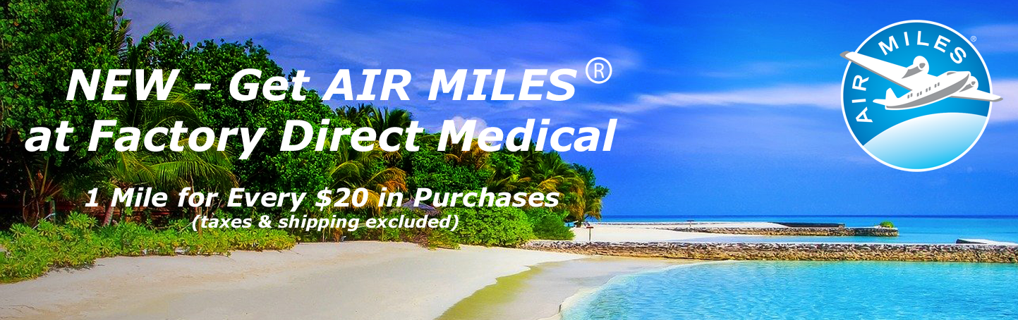 Gate Air Miles at Factory Direct Medical