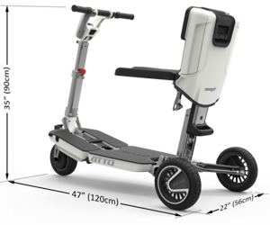 ATTO Mobility Scooter Drive Dimensions