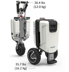 ATTO Mobility Scooter Split Dimensions