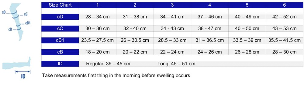 Jobst forMen Ambition Compression Sock Size Chart